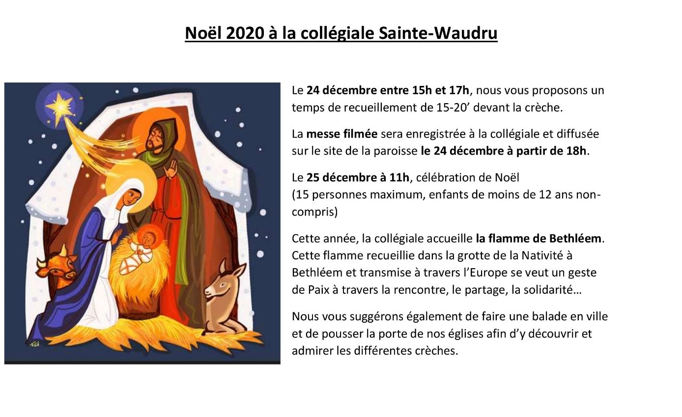 Messes Noel 2020 Mons